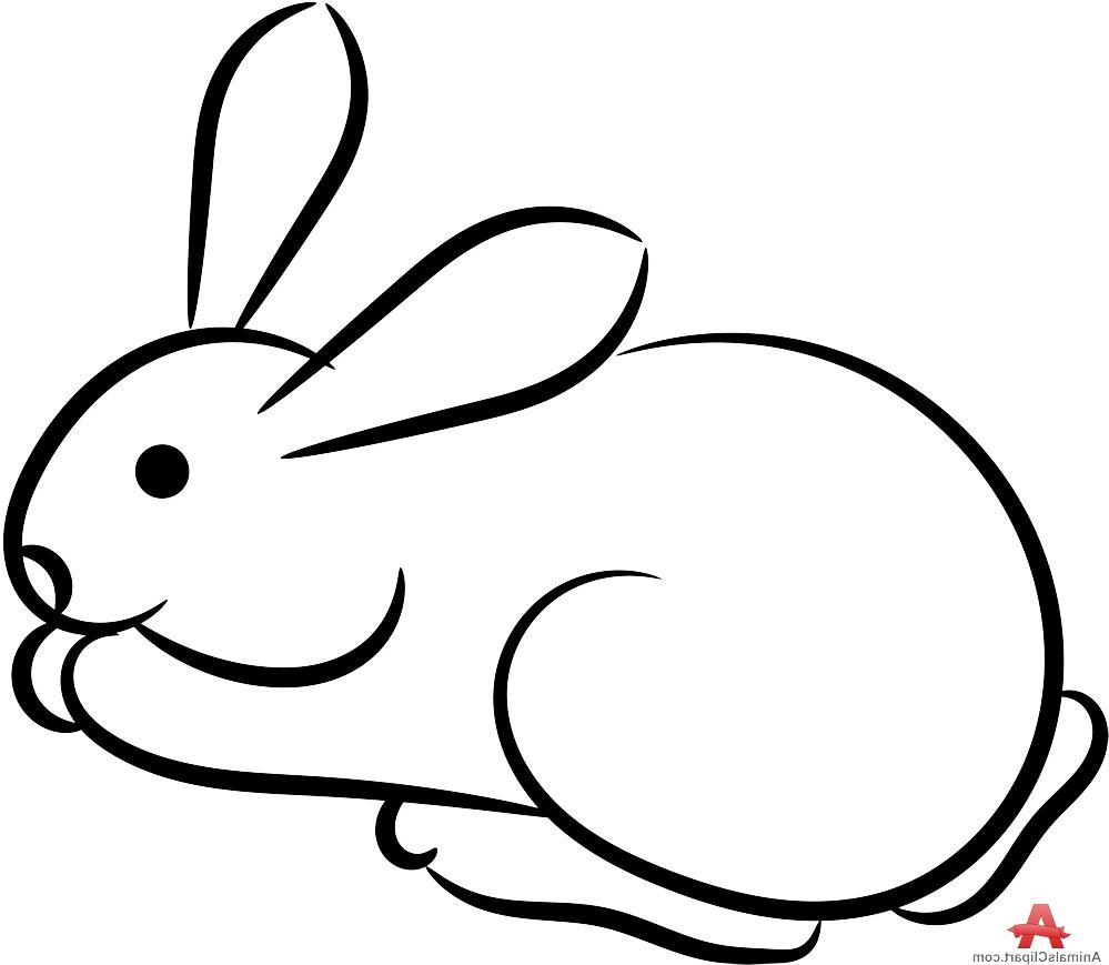 Bunny Clipart Black And White | Free download on ClipArtMag