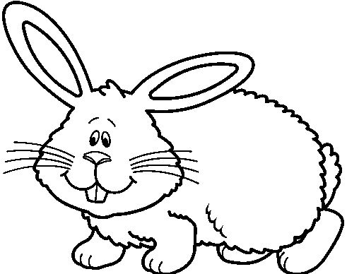 491x388 Bunny Clipart Black And White