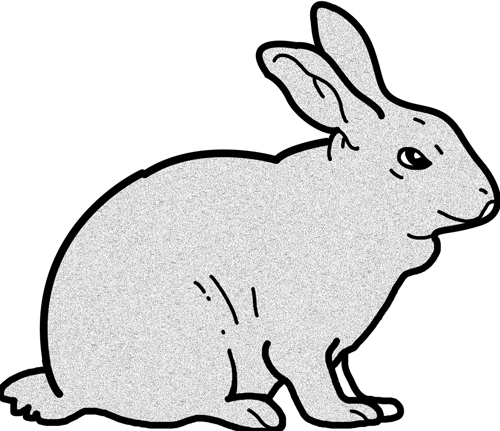 500x431 Rabbit Black And White Easter Bunny Clip Art Black And White Free