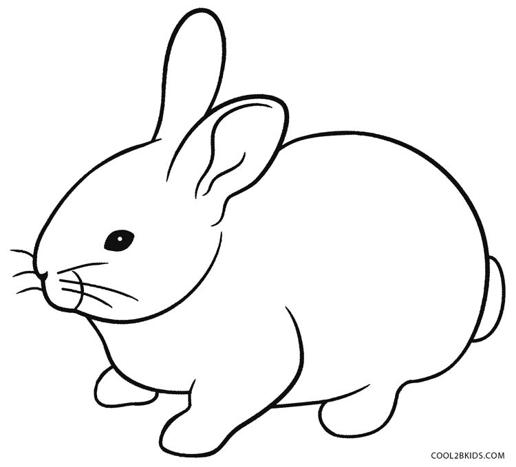 750x679 Bunny Coloring Pages The Sun Flower Pages
