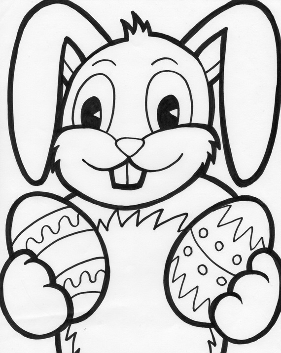 570x714 Easter Bunny Coloring Pages For Kids