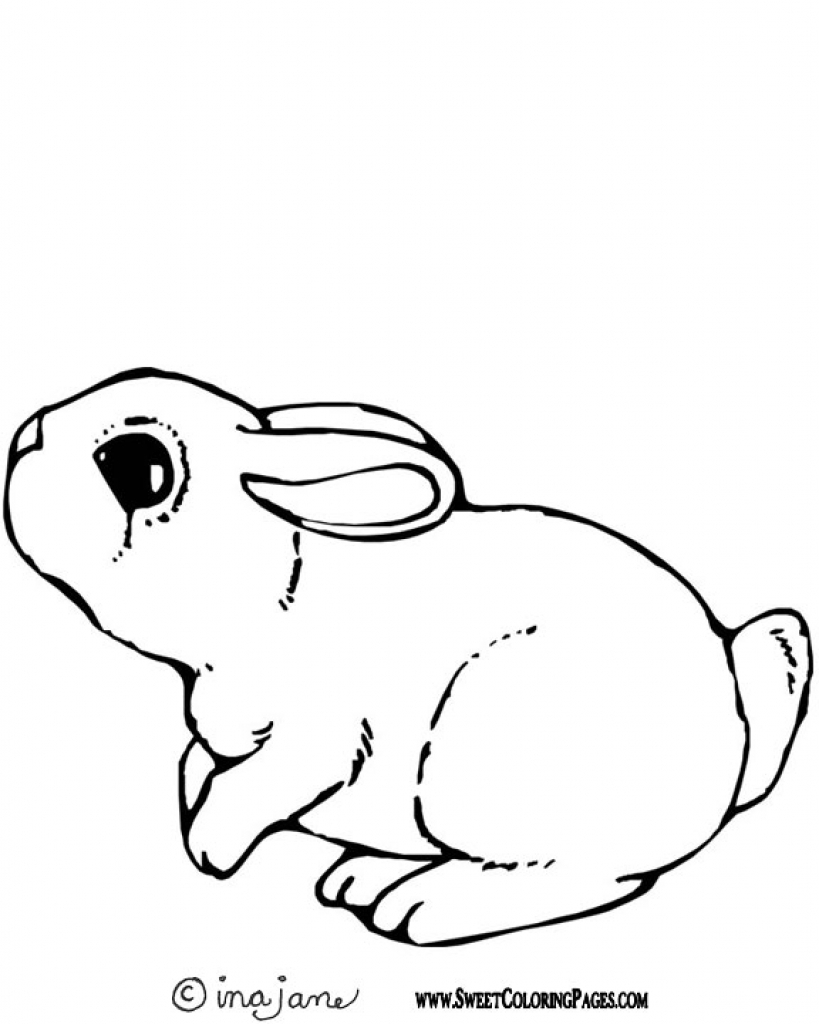 819x1024 Free Rabbit Coloring Pages Intended To Really Encourage To Color