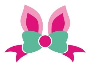 300x224 Bunny Clipart Bow