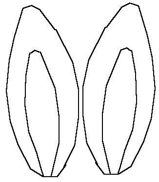 326x374 Rabbit Ear Clipart