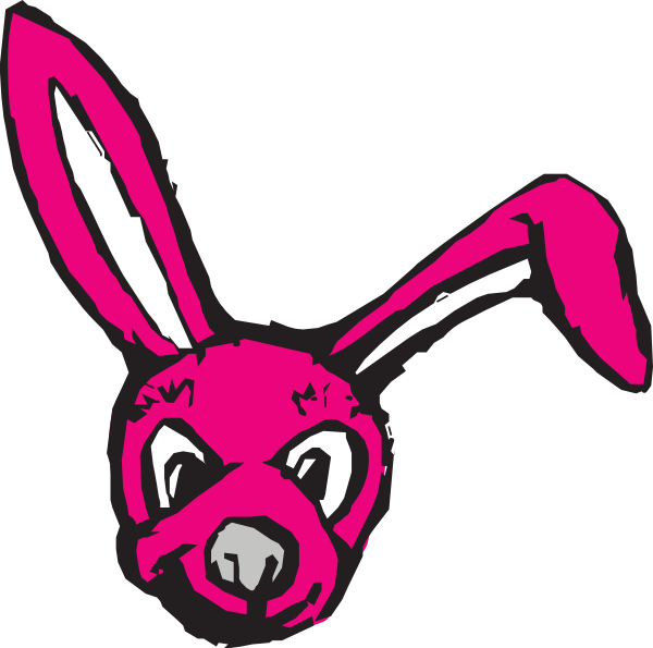 600x595 Scary Bunny Clip Art