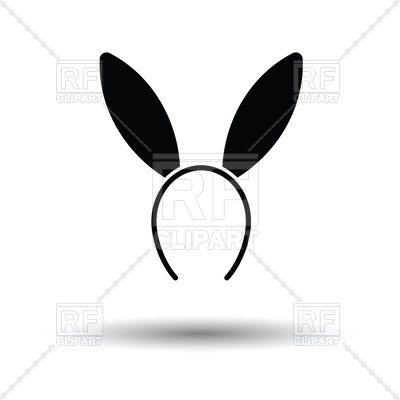 400x400 Sexy Bunny Ears Icon On White Background Royalty Free Vector Clip