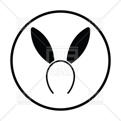 400x400 Thin Circle Design Of Sexy Bunny Ears Icon Royalty Free Vector