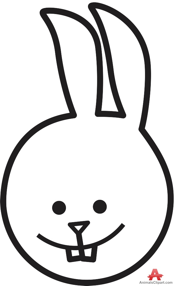 614x999 Baby Rabbit Face Outline Clipart Free Clipart Design Download