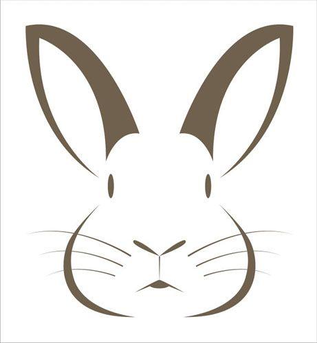 461x500 Hare Clipart Head