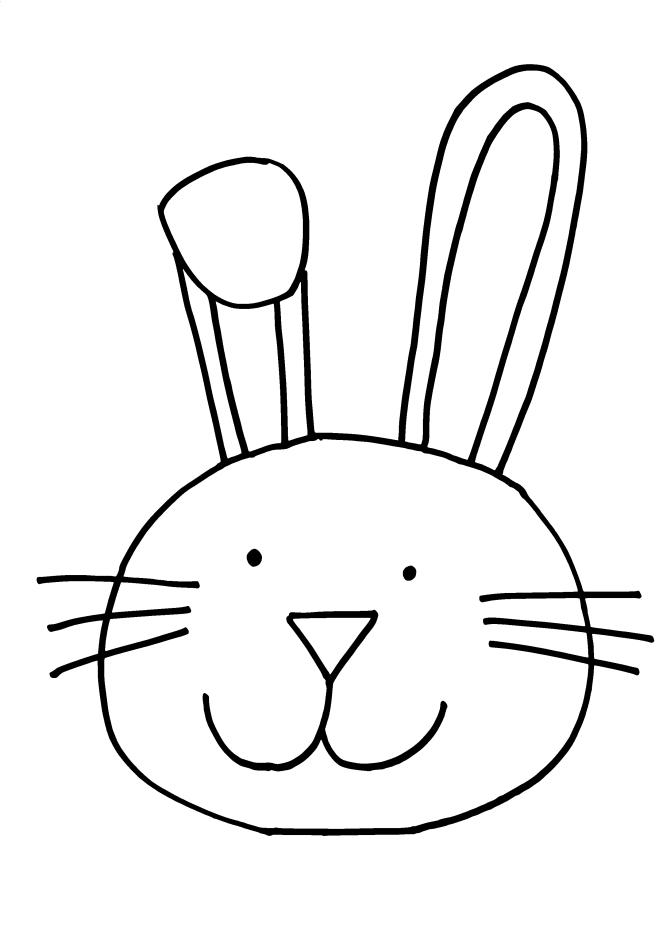 663x938 Bunny Clipart Easy
