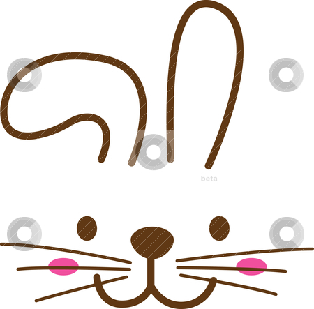 450x443 Bunny Clipart Rabbit Face