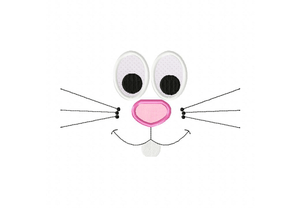 300x208 Bunny Face Applique Inch Free Images