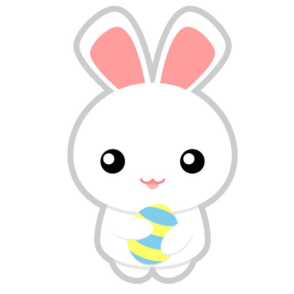 600x600 Easter Bunny Head Clipart