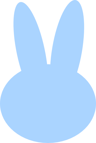 402x595 Blue Bunny Head Clip Art
