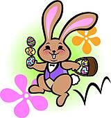 160x170 Bunny Hop Clip Art