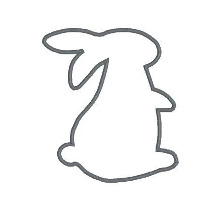 438x397 Embroidery Applique File Design Pattern Bunny Rabbit