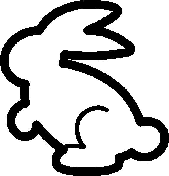 570x594 Bunny Outline Clip Art