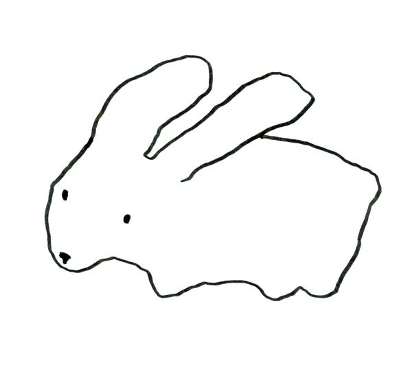 600x532 Outline Of A Bunny Outline Of Bunny Coloring Page Bunny Outline