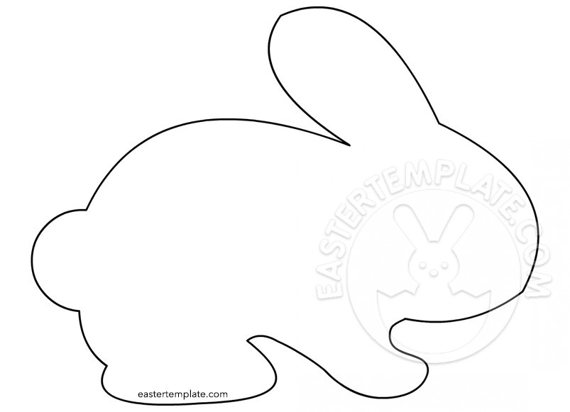 803x581 Outline Of Bunny Coloring Page