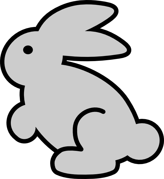 546x598 Bunny Outline Clipart