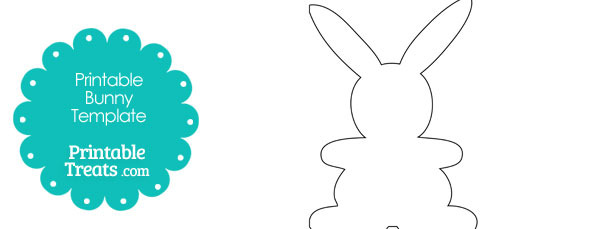 610x229 Standing Easter Bunny Outline Printable