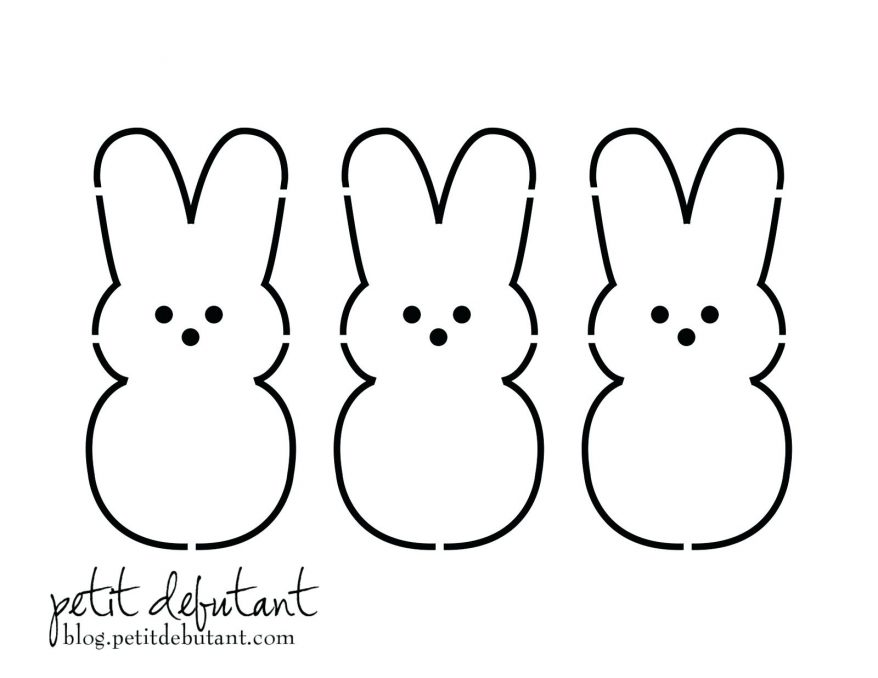 878x678 Bunny Printable Template 95 Marvelous Easter Outline To Colour