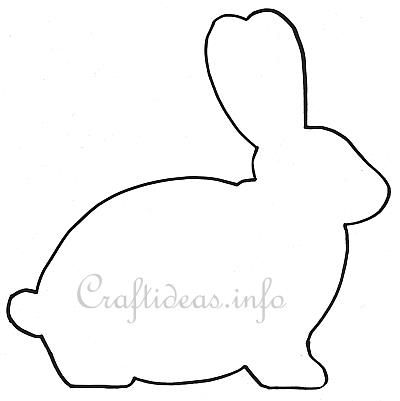 400x401 Bunny Clipart Template