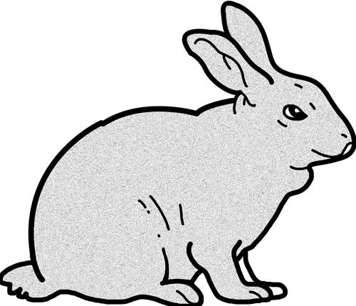 500x431 Free rabbits clipart