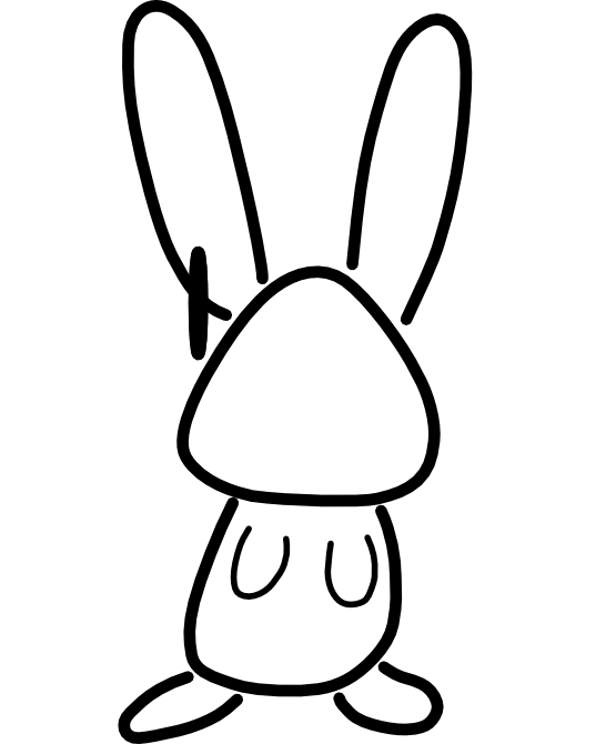 555x670 Rabbit black and white bunny black and white rabbit clipart 3