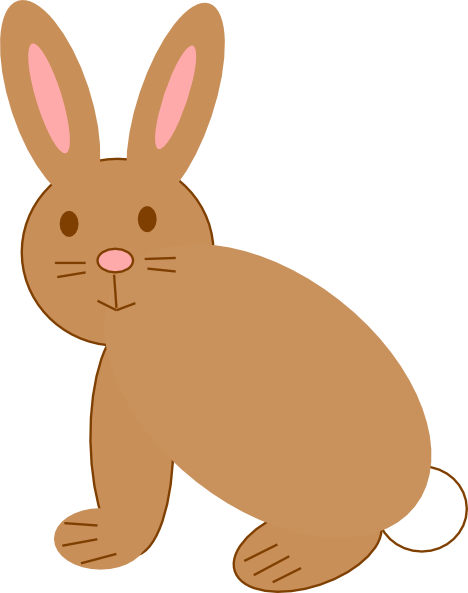 468x593 Brown Rabbit Clip Art