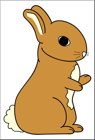 304x449 Clip Art Cartoon Bunny 2 Color 2 I Abcteach
