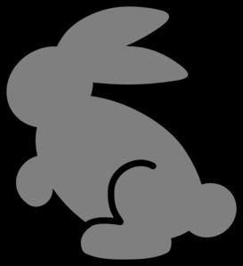 273x299 Gray Bunny Clip Art
