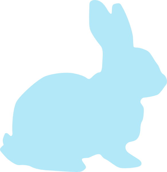 582x599 Blue Rabbit Clip Art