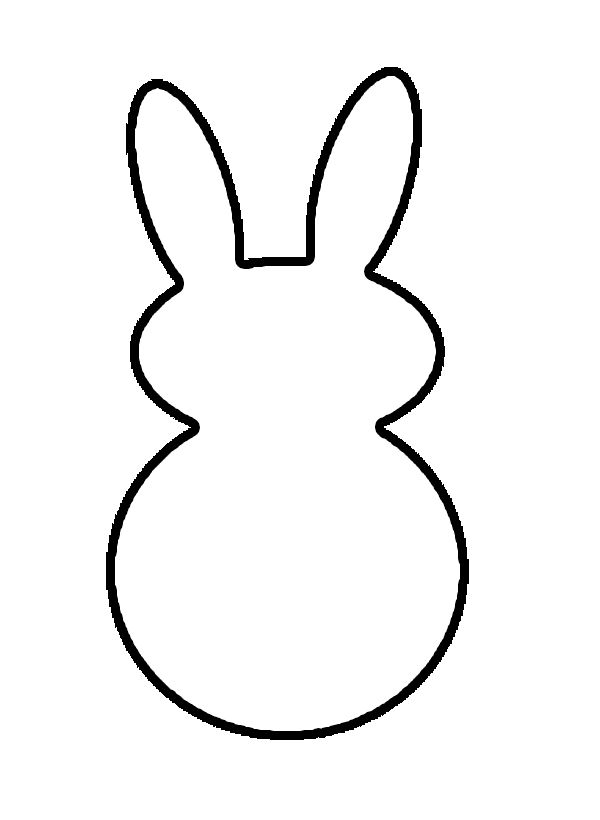 600x820 Bunny Silhouette With Tail Black And White Clipart