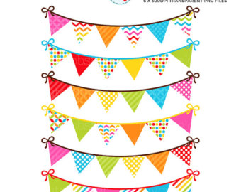340x270 Rainbow Bunting Clipart Set Clip Art Set Of Bunting