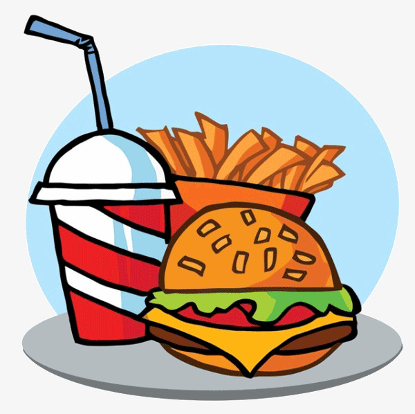 600x598 Cartoon Burger Drink, Cartoon, Hamburgers, Drink Png Image