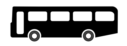 446x162 Bus Black And White Clip Art