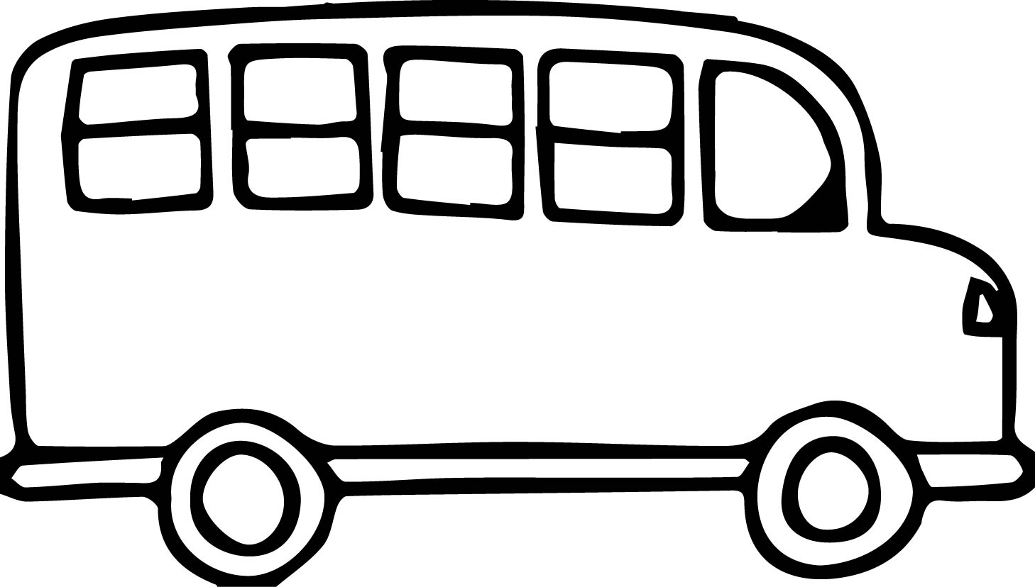 1458x828 Church Van Black And White Transportation Bus Coloring Page