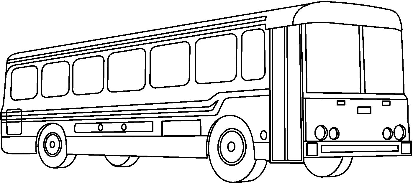 1400x621 Free School Bus Clipart Black And White Image