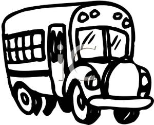 300x243 School Bus Clip Art Black And White Clipart Panda