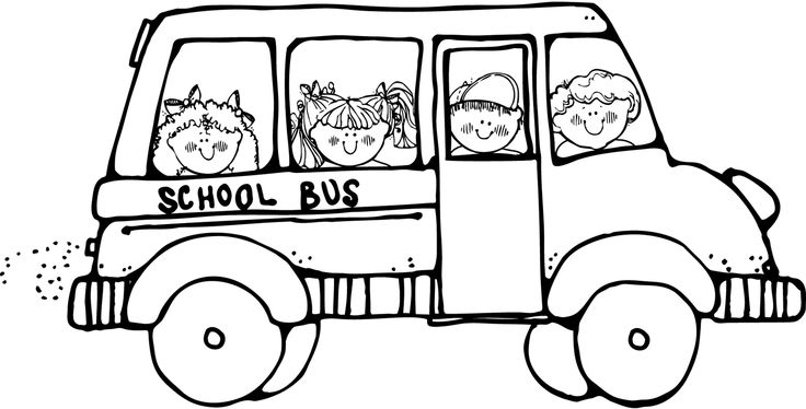 736x374 School Bus Clipart Free Black And White