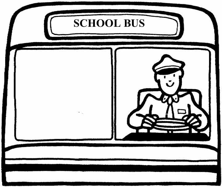 720x608 School Bus Driver Clipart Black And White