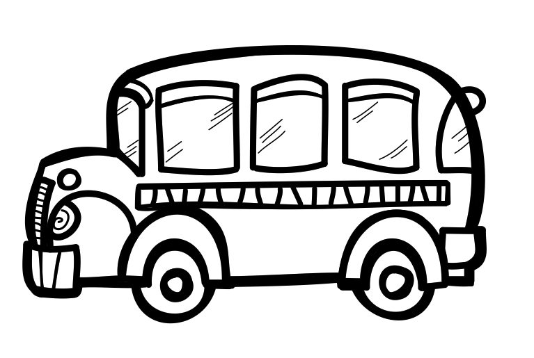 767x515 School Bus Bus Clipart Black And White