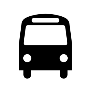 300x300 Bus Station Icon Black White Clip Art