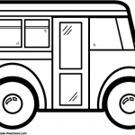 Bus Black And White Clipart