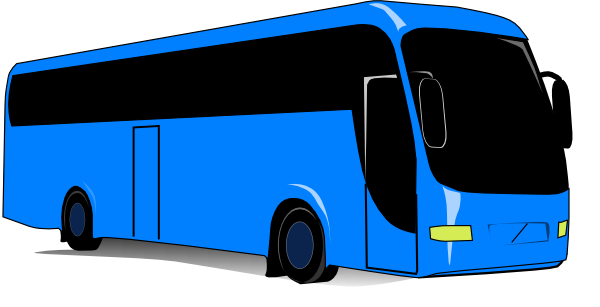 600x307 Blue Bus Clip Art