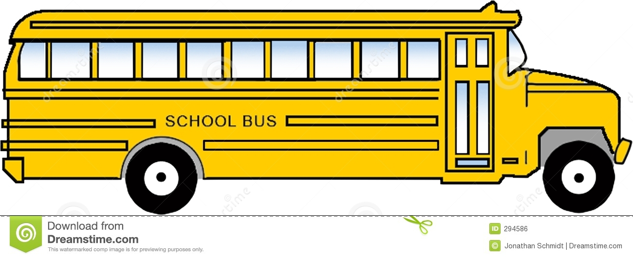 1300x533 School Bus Clipart
