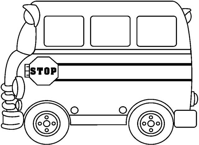 Bus Clipart Black And White | Free download best Bus Clipart Black ...