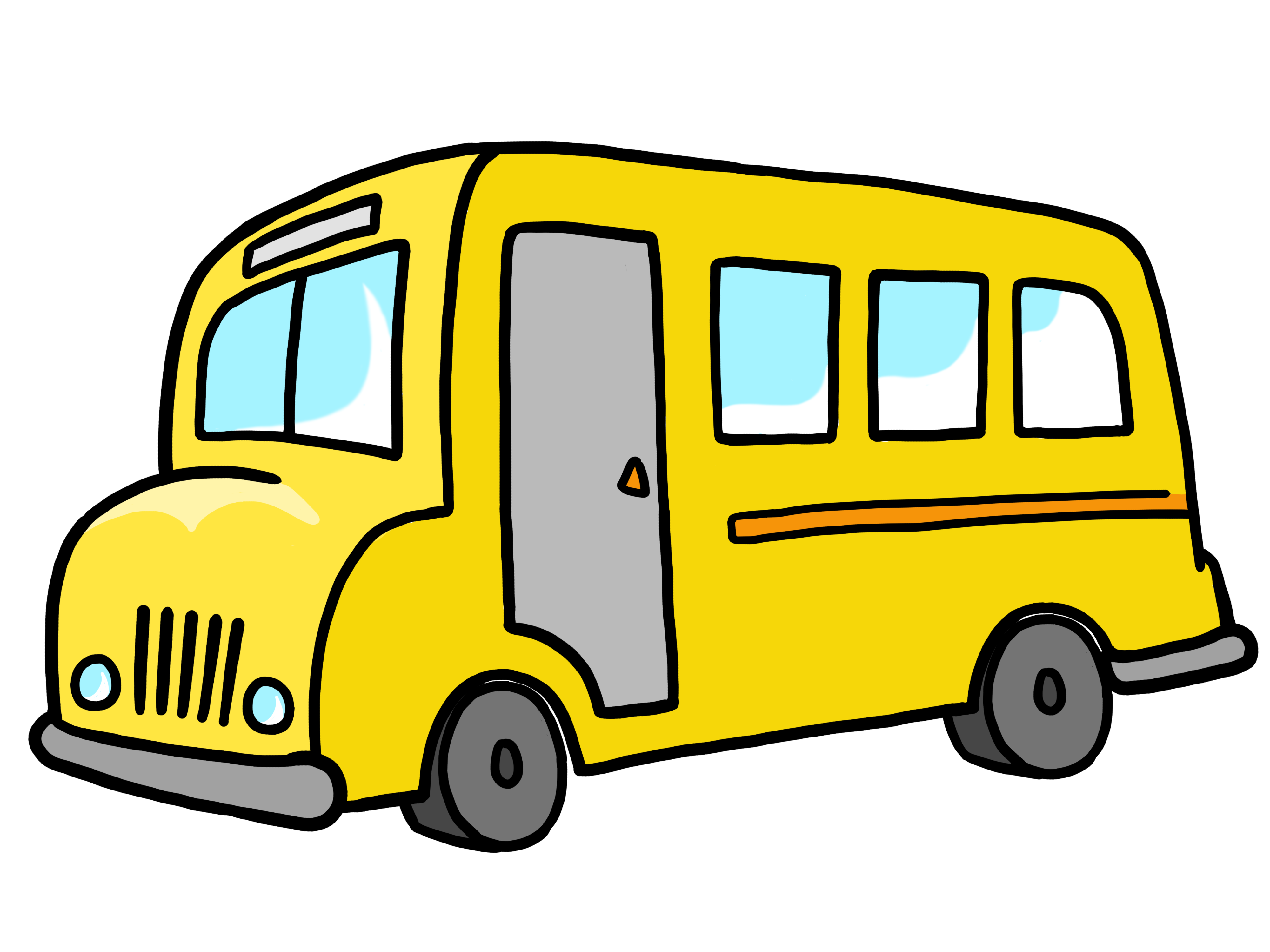 4000x3000 Cute School Bus Clip Art Free Clipart Images