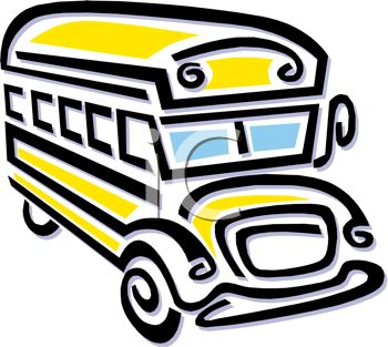 350x313 Picture Of A Cartoon School Bus In A Vector Clip Art Illustration